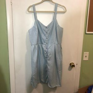 Just Be Chambray Button Down Dress